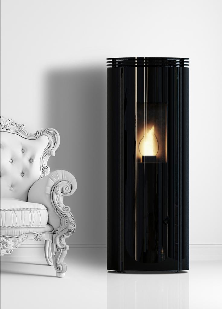 Poêles à granulés SKIA DESIGN Fusion HI Glass Noir 9