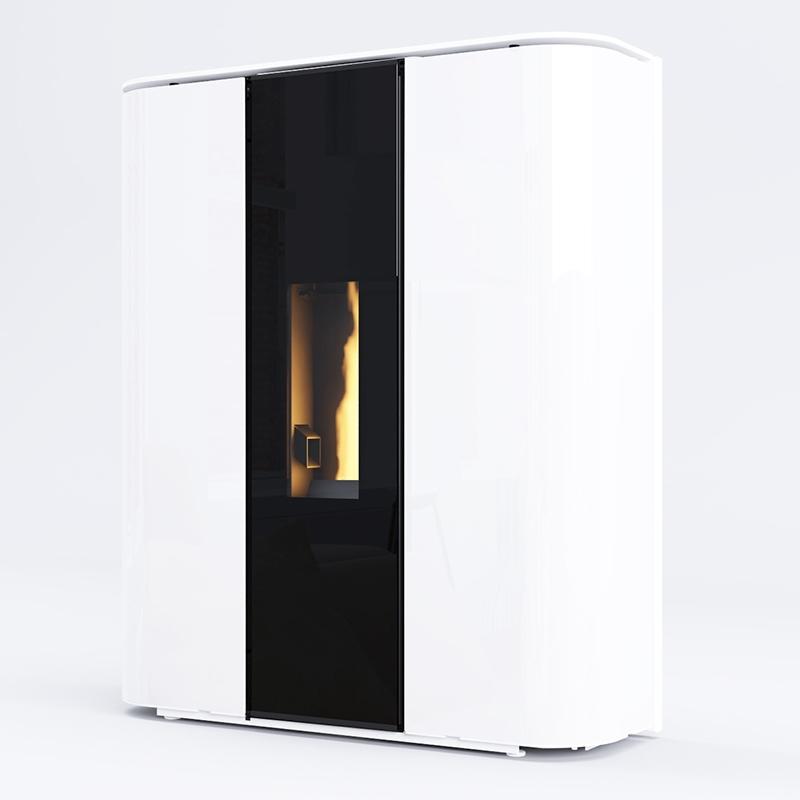Poêles à granulés SKIA DESIGN Plasma Glass Blanc