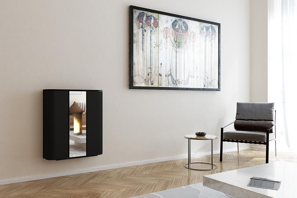 Poêles à granulés SKIA DESIGN Plasma Glass Dark Mirror