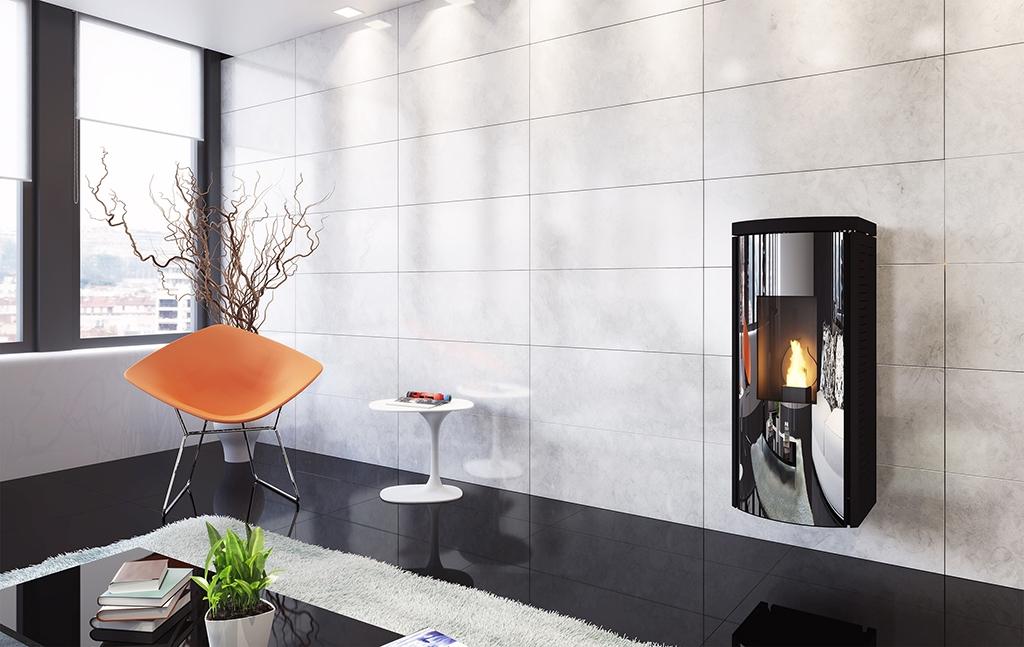Poêles à granulés SKIA DESIGN Smart Mirror Noir  11.5